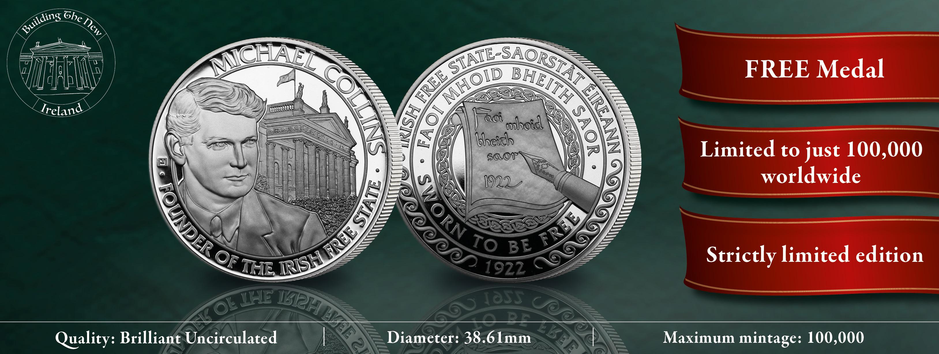 Michael Collins 80th Anniversary Commemorative Medal