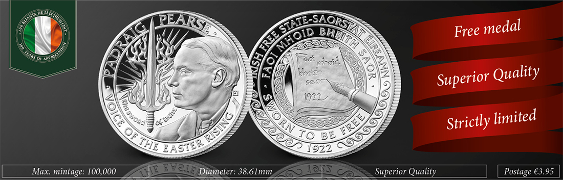 Pádraig Pearse 100th Anniversary Commemorative Medal