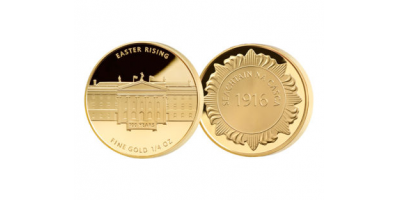 1/4oz Gold Easter Rising Medal With Privy Mark