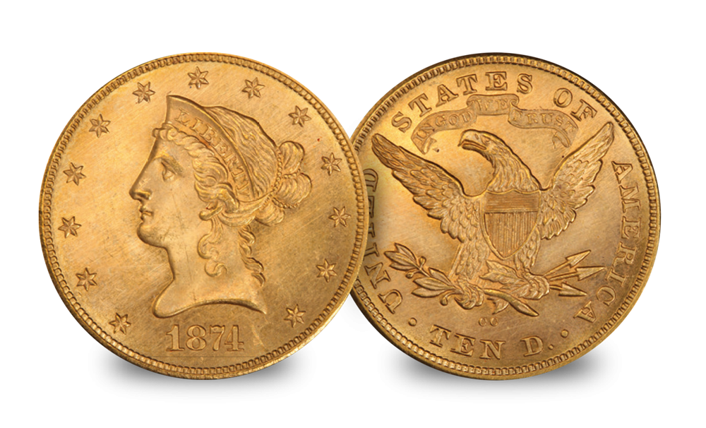 This remarkable set spans up to 175 years of U.S. Eagle history.