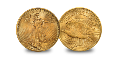 $20 Double Eagle set Gauden and Liberty