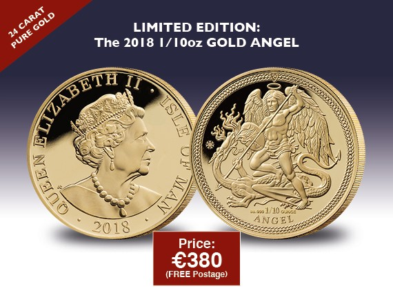 2018 1/10 oz Gold Angel coin