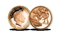 2021 The Dragon Conquered Brilliant Uncirculated Quarter Sovereign