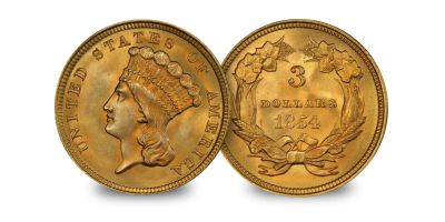 $3 Princess Gold coin (1854-1889)
