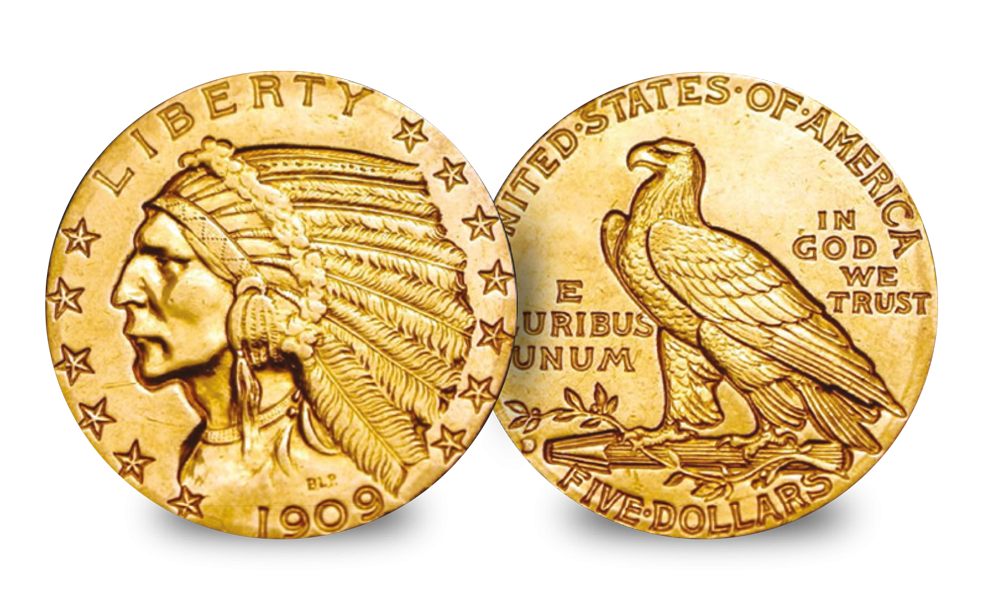 The very first gold coins to be struck in America
