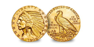 $5 Indian and Liberty Gold Set