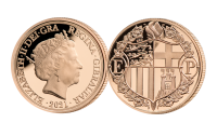 22 carat gold quarter sovereign. An everlasting tribute to His Royal Highness.