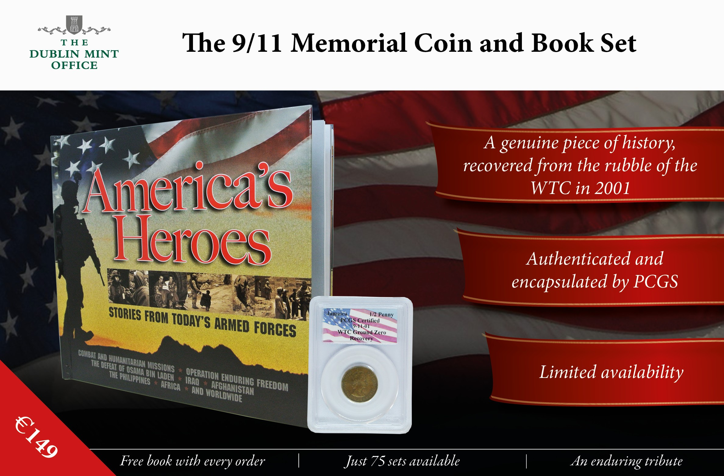 The 9/11 Memorial Coin and Book Set