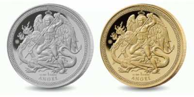 Angel 2018 2 Coin Set 1oz Silver and 1oz Gold