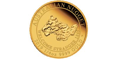2019 Australian Gold Nugget 1/4oz