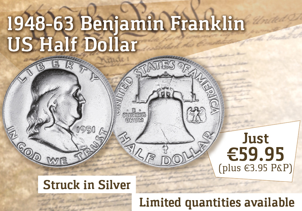 The Benjamin Franklin 1948 - 1963 U.S. Silver Half Dollar