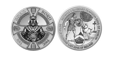Brian Boru Silver Medal - Struck on the 1000th anniversary of his death.