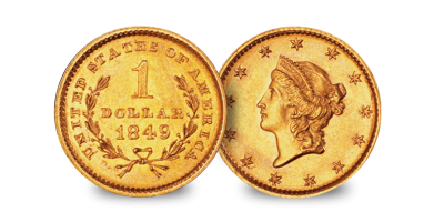 California Gold Rush $1 & $2.50 (1850-1854) set