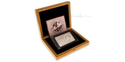 China Panda 30th Anniversary Silver Coin & Bar Set