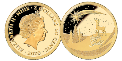 2020 Christmas 0.5g Gold Coin