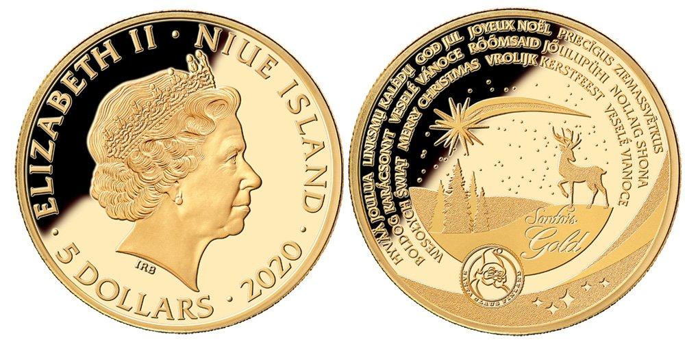 Santa's Gold 1.10oz Coin