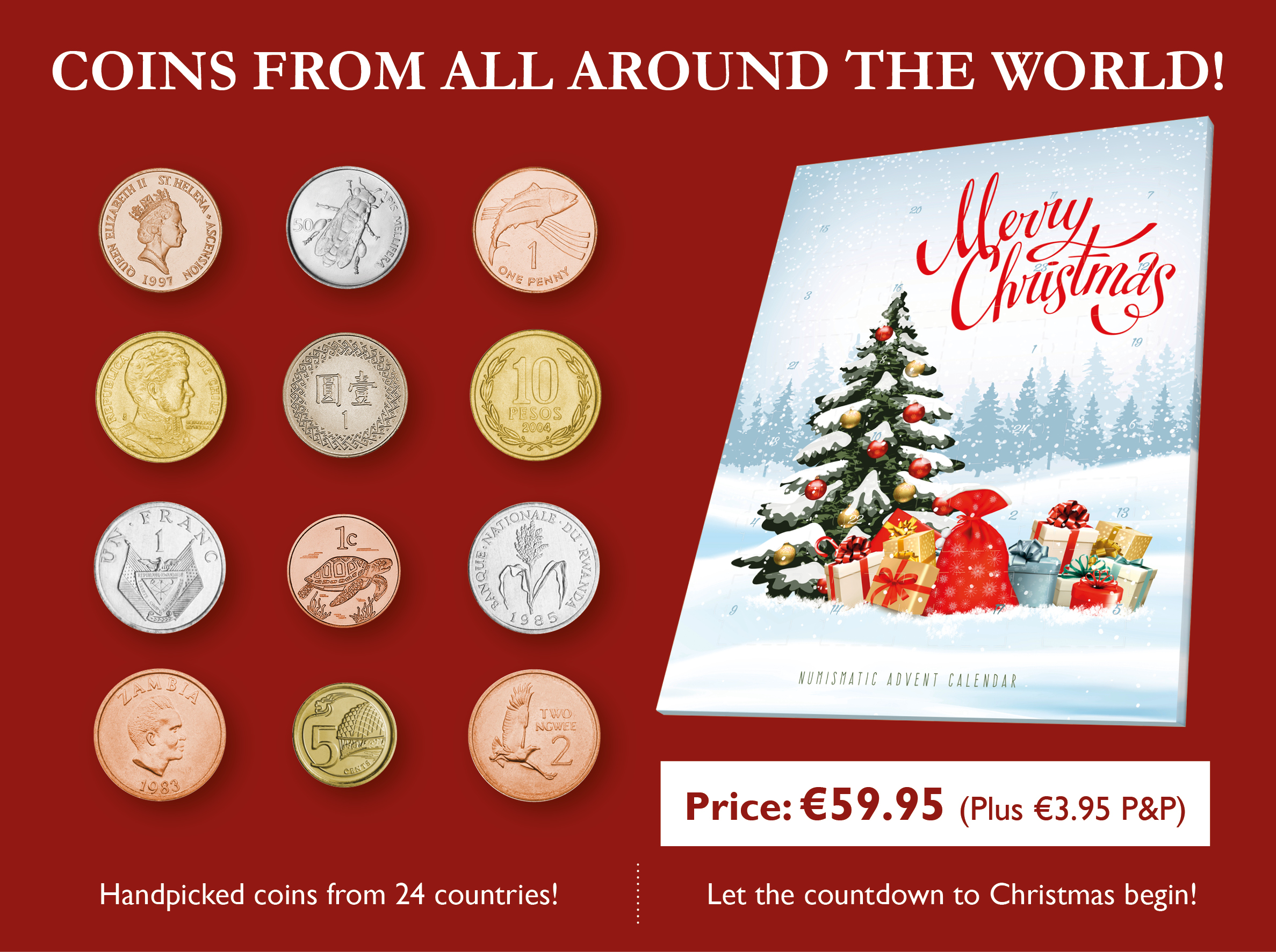 Christmas Coins of the World Advent Calendar
