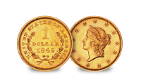 The complete history of gold $1