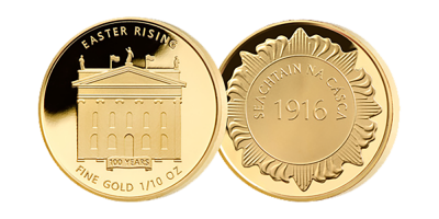 Easter Rising 1/10 oz Gold medal