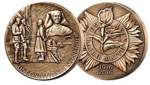 Featured on this medal is The Easter Rising Lily. A symbol of remembrance in memory of those who lost their lives in Easter Week