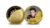 Features a design that depicts the official signature of the man himself layered in 24 carat gold