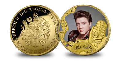 Elvis Presley The King of Rock 'n' Roll layered in Fairmined Gold