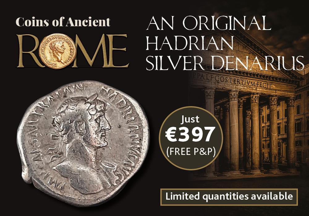 Emperor Hadrian Silver Denarius