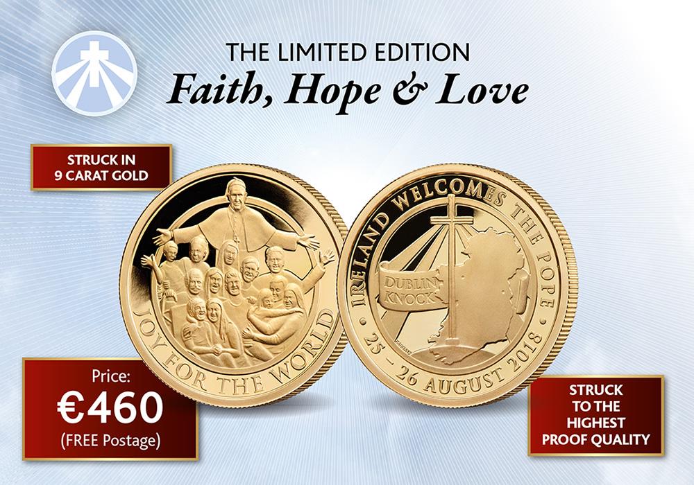 'Faith, Hope and Love' Gold medal