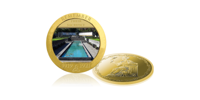The Garden of Remembrance Gold Plated Photographic Medal
