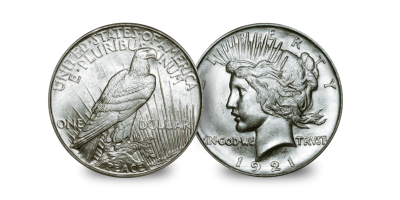 The 1921 High Relief Peace Dollar