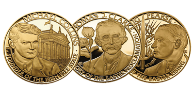 Irish Revolutionary Leaders 3 Medal Set