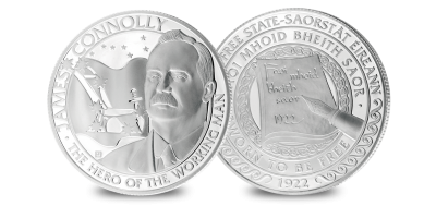 James Connolly Silver Plated Medal