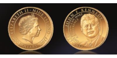 John F. Kennedy 2017 1 Ounce Gold Coin