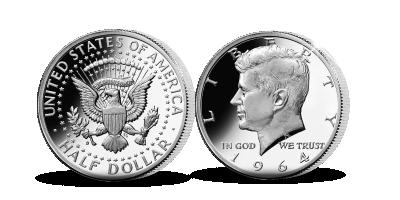 John F. Kennedy Coin set 1917 & 1964 1/2 Silver Dollars
