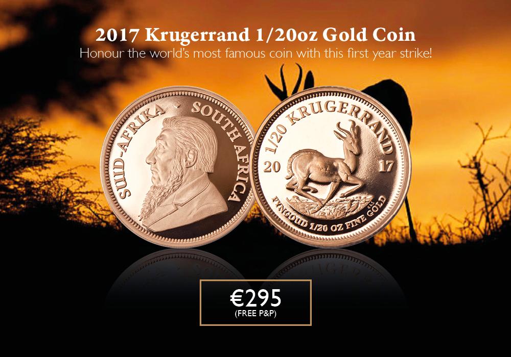 Krugerrand 2017 1/20 Gold | The Dublin Mint Office
