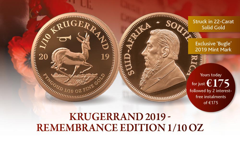 Krugerrand 2019 -Remembrance 1/10oz Gold