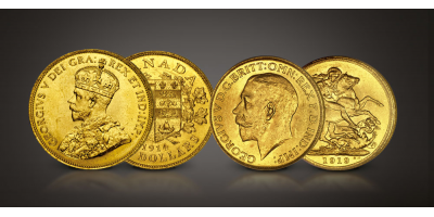 Last Canadian Gold George V Set