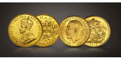 Last Canadian Gold George V Set