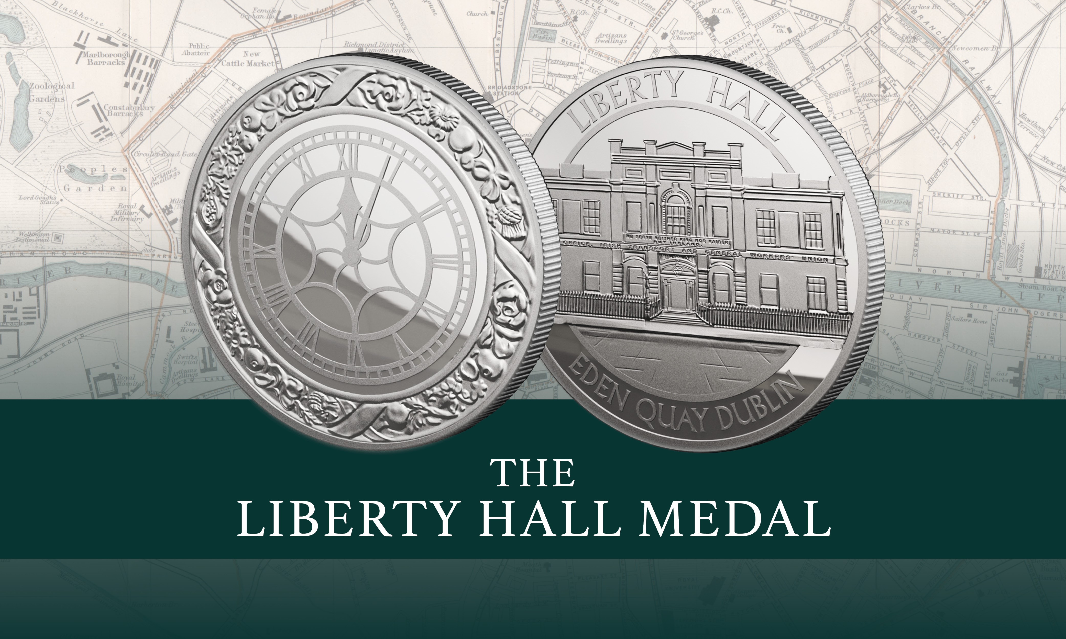 Liberty Hall Medal & Book Set | The Dublin Mint Office