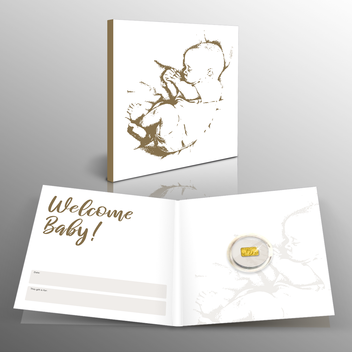 The Pure Gold 'New Baby' Lucky Ingot is an unusual and thoughtful gift that makes for the perfect sentimental keepsake, bringing luck for a lifetime!