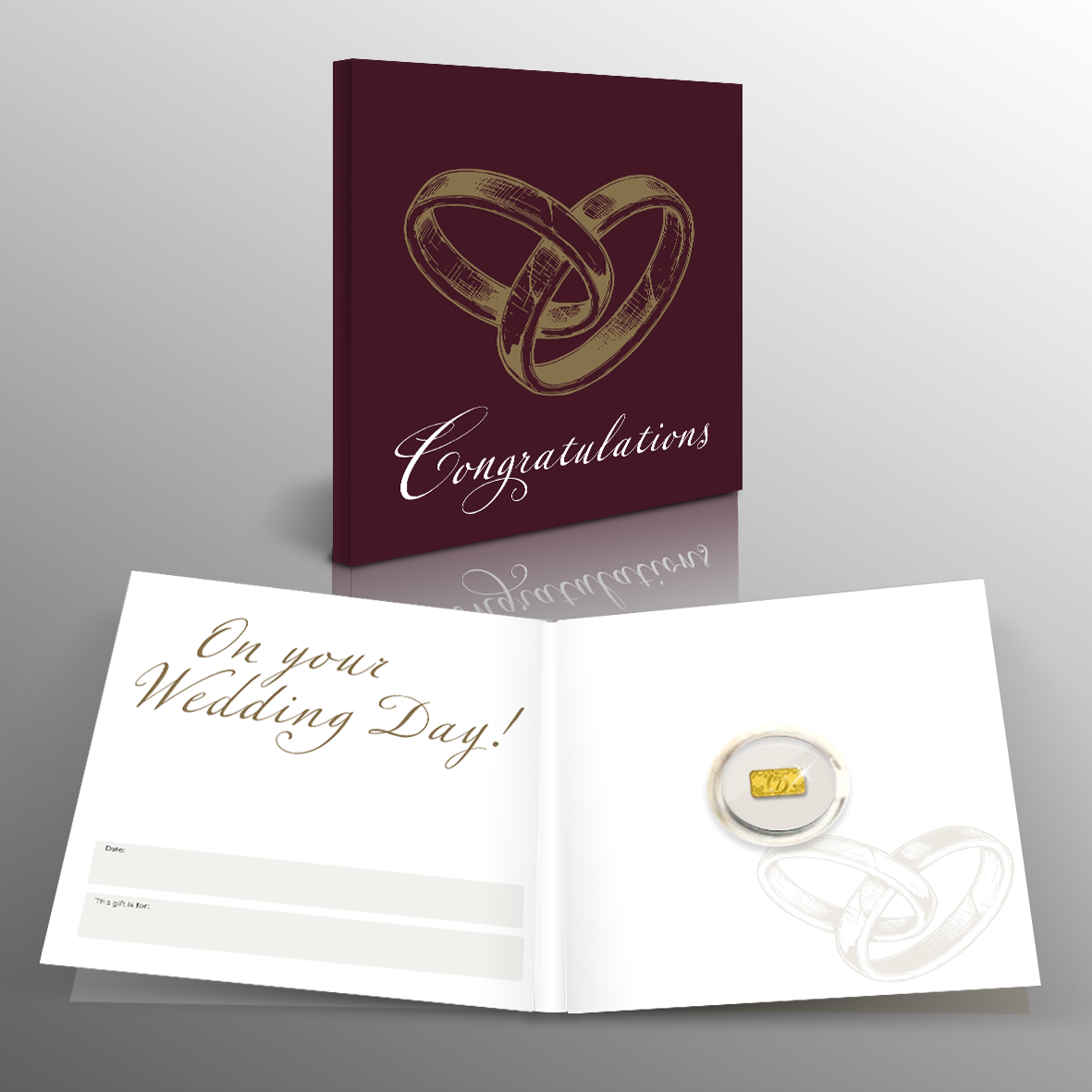 The Pure Gold 'Wedding' Lucky Ingot is an unusual and thoughtful gift that makes for the perfect sentimental keepsake, bringing luck for a lifetime!