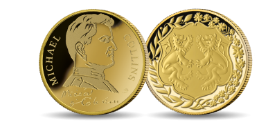 Michael Collins: The Man Behind a Nation Brilliant Uncirculated Gold Medal
