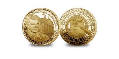 The Michael Collins Gold Layered Commemorative