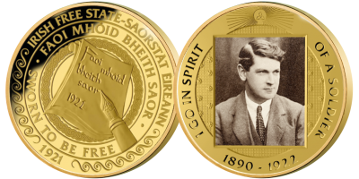 Michael Collins: The Path to Freedom Gold Plated Medal