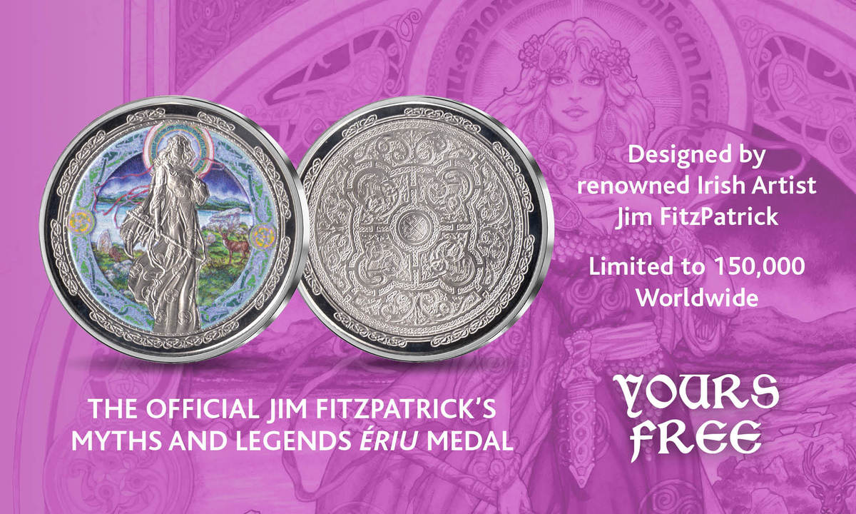 Official Jim Fitzpatrick's Myths and Legends Ériu Medal
