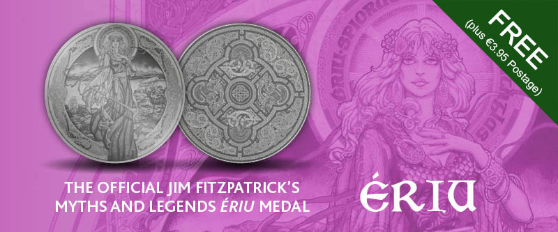 Official Jim Fitzpatrick's Myths and Legends Ériu Medal