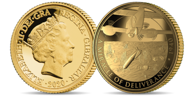 The Official Merchant Navy Association We Shall Never Surrender Brilliant Uncirculated Quarter Sovereign