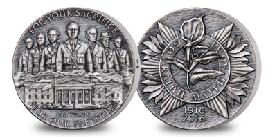 Numbered Solid Silver Easter Rising Medal