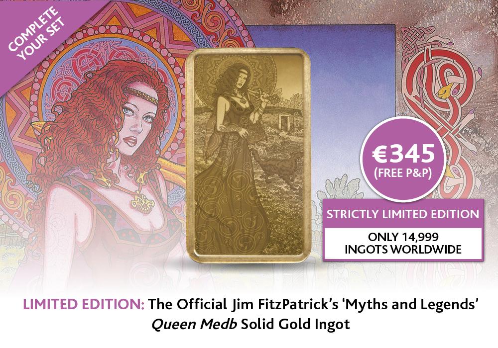 Queen Medb Solid Gold Ingot