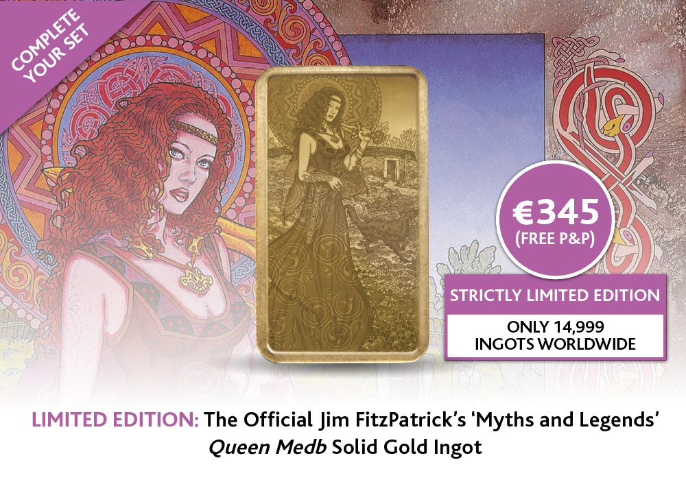 Queen Medb Solid Gold Ingot